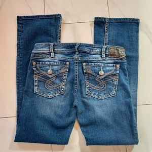 Silver jeans Pionneer light wash bootcut 30x33